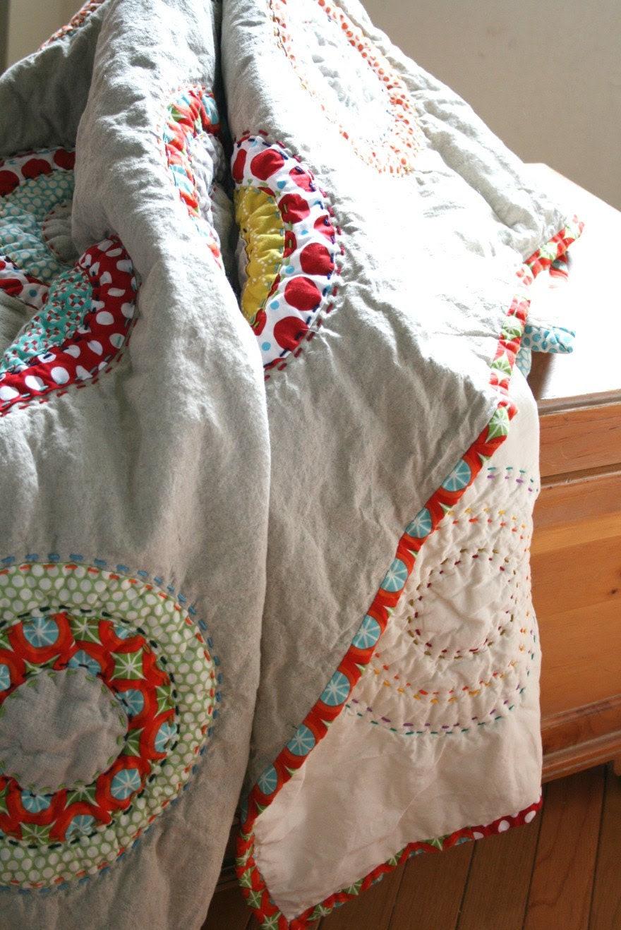Circles and Dots Handmade Quilt
