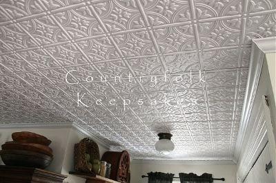 Countryfolk Keepsakes My Faux White Tin Tile Kitchen
