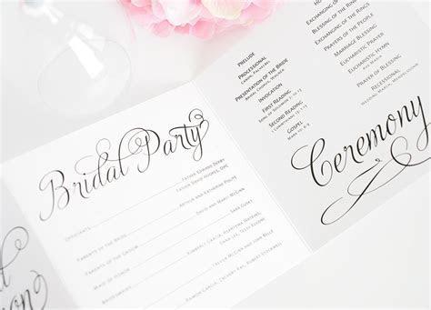 Charming Script Wedding Programs ? Wedding Invitations