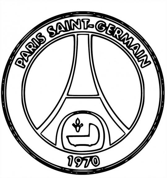 Blason Psg Coloriage Psg Paris Saint Germain à Imprimer