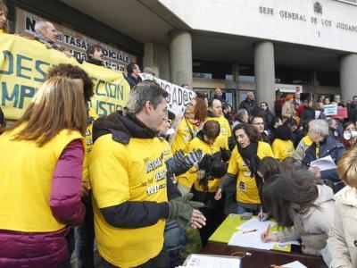 Paro de este miércoles en los Juzgados de Plaza de Castilla, de Madrid/EFE
