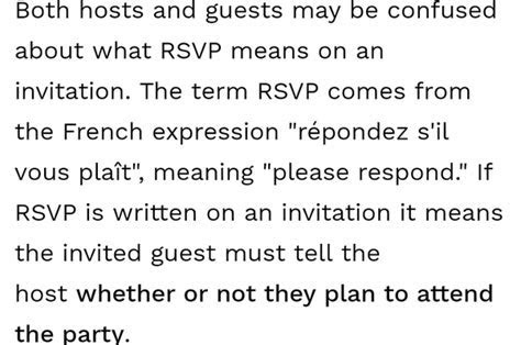 What is the meaning of RSVP on an invitation card?   Quora