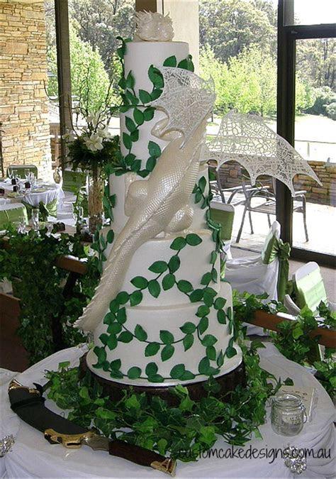 Smaug Dragon Wedding Cake   CakeCentral.com