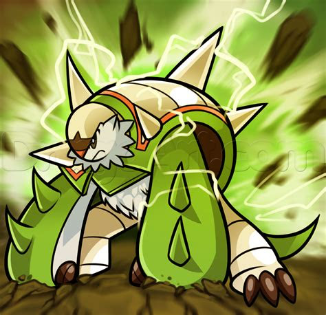 draw chesnaught step  step pokemon characters