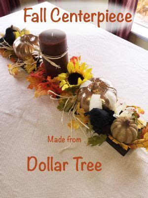 Fall Centerpiece made from Dollar Tree items an