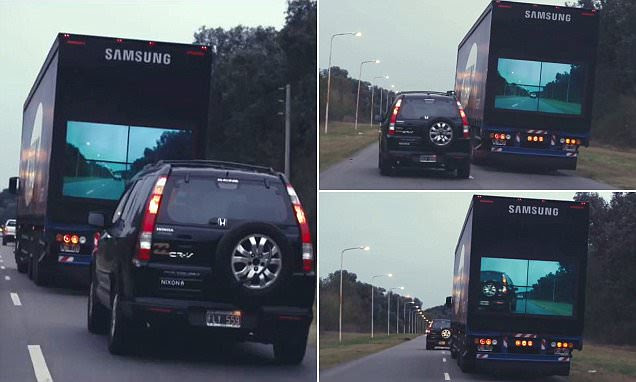 Samsung's transparent Safety Trucks allows drivers to see when it's safe to pass