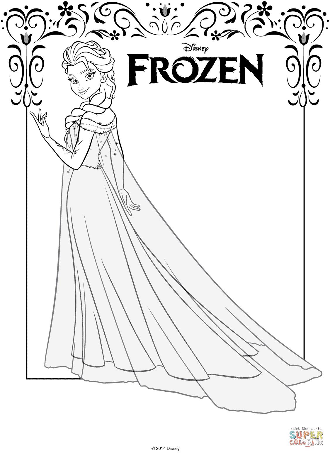 Kleurplaten Disney Frozen Elsa.Kleurplaat Elsa Frozen Krijg Duizenden Kleurenfoto S Van De Beste