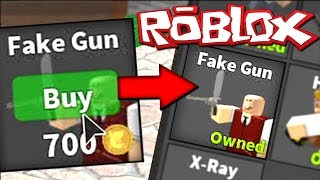 Buying Fake Gun Perk Roblox Murder Mystery 2 - best fake gun troll roblox murder mystery 2