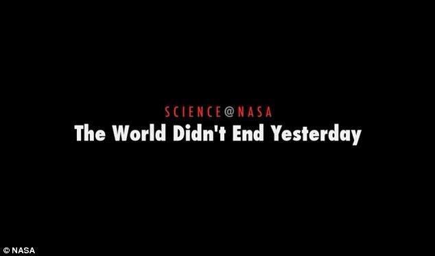 In a forthright and confident message NASA released a video explaining why the Mayan apocalypse did not come on 21st December ten days early