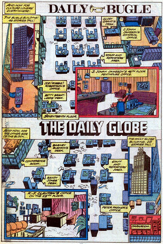"""The Daily Bugle and The Daily Globe,"" from Amazing Spider-Man #13"