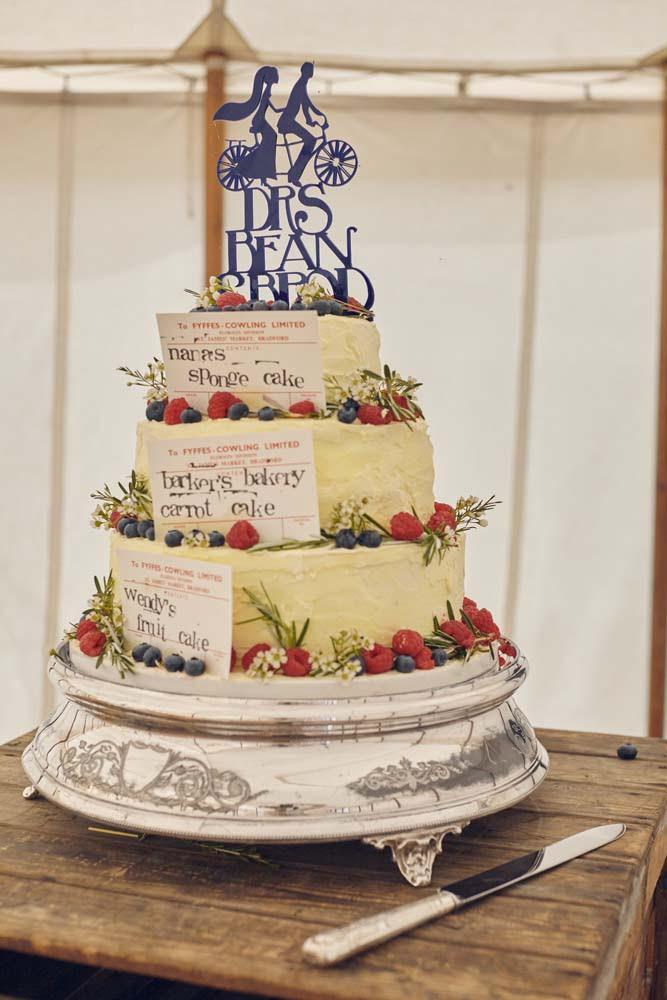 Tandem Wedding Cake topper Cambridge - www.helloromance.co.uk