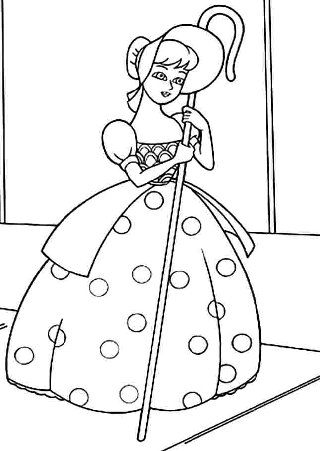 Toy Story Bo Coloring Pages