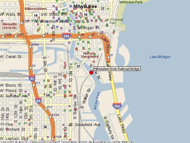 Historicbridges Org Milwaukee River Railroad Bridge Map