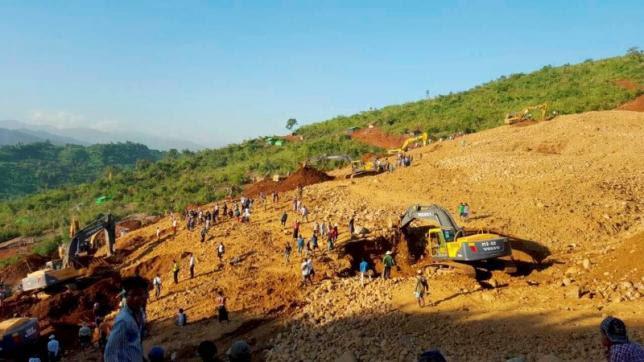 Hình ảnh Myanmar: Lở đất tại mỏ ngọc bích, ít nhất 90 người chết, 100 người mất tích số 1