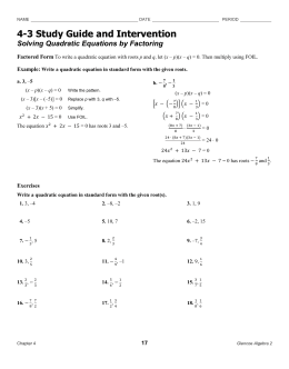 35 Algebra Worksheet Section 106 Answers - Worksheet ...
