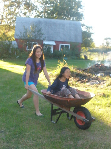 Having Fun in the Wheelbarrow