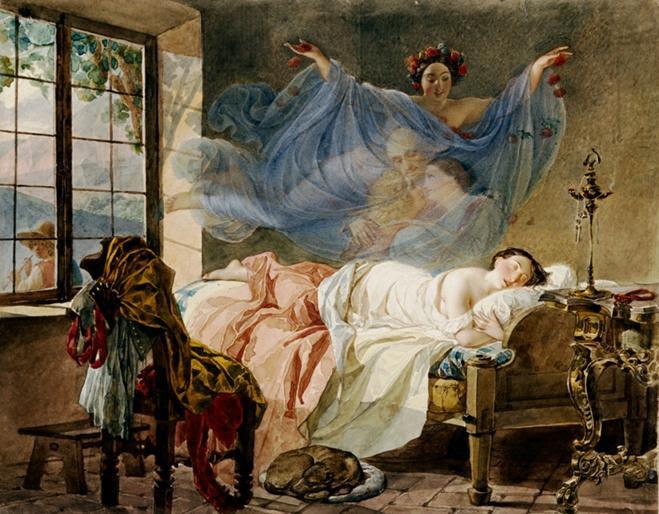 https://upload.wikimedia.org/wikipedia/commons/a/a9/Briullov%2C_Karl_-_A_Dream_of_a_Girl_Before_a_Sunrise.jpg