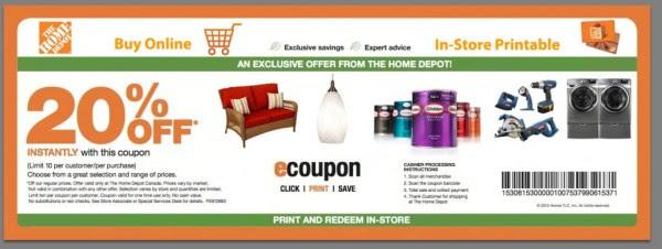Home Depot Promo Code Home Decor