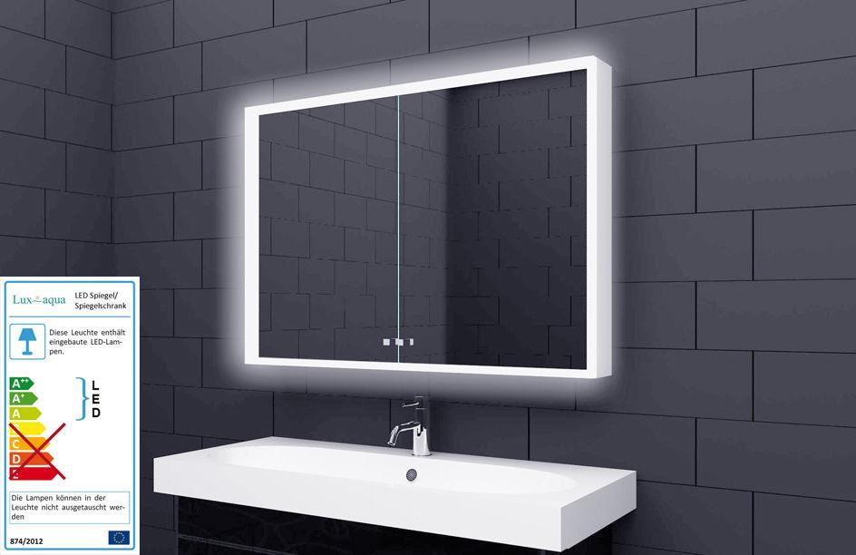 led spiegelschrank weiss 100x70 cm 2türig badezimmer spiegel