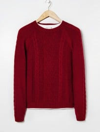 He By Mango Wool-blend Cable-knit Sweater