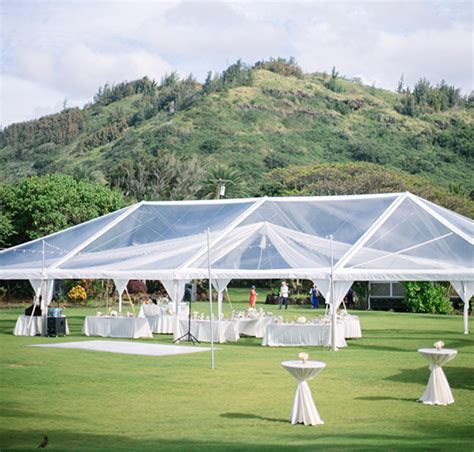 40x80 Clear Tent with Swag Draping and Cafe Lights