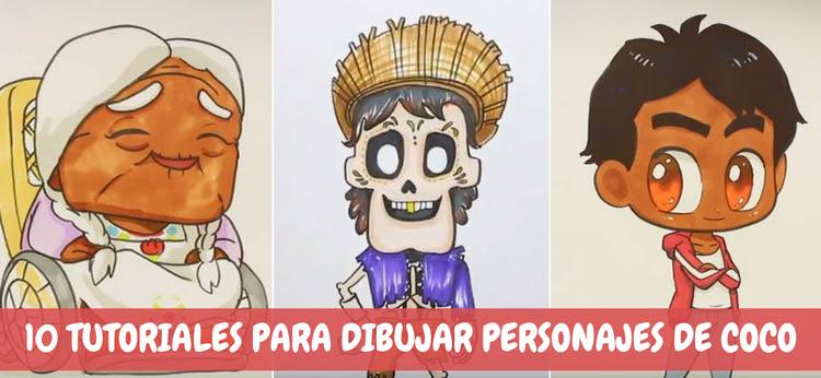 10 Tutoriales Para Dibujar Personajes De Coco Dibujosnet