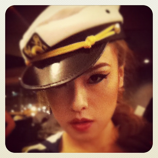 My sailor look tonight at the pool. Our last themed fashion show party. ❤❤❤ #fashion #ootd #lookoftheday #model #catwalk