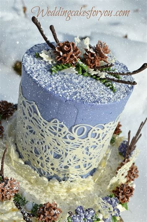 Winter Cake Tutorial Featuring Buttercream Pinecones and