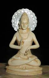 """صغيرة رائعة خمر الهندي بوذا بوذا يجلس في """"الموقف التدريس"""" أو مودرا dharmacakrapravartana (2.4 بوصات طويل القامة)"""