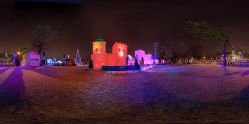 Ice Castle at the Quebec Winter Carnival