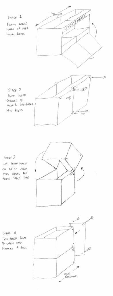 Folding baseboard idea