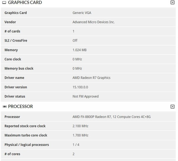 AMD FX-8800P 3DMark