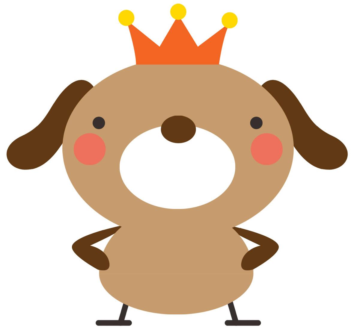 高解像度プリント素材 犬イラストmococo Print 素材可愛らしい犬