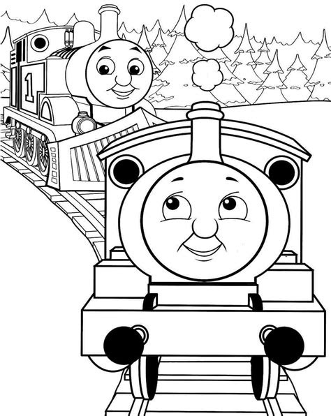 Cartoon Train Coloring Pages at GetColorings.com | Free