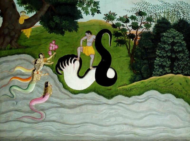 Krishna against Kaliya