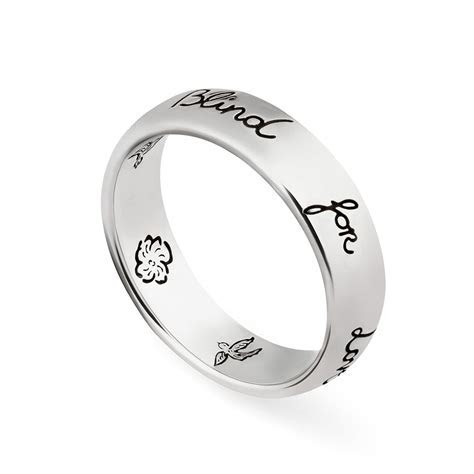 Gucci Blind for Love Silver Ring YBC455247001 from Berry's