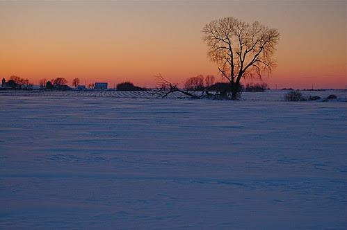 Winter sunset 1/22