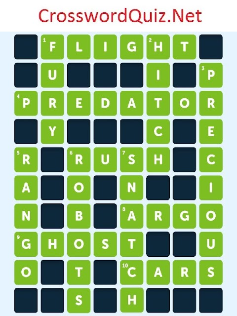 Crossword Quiz Movies Level 7