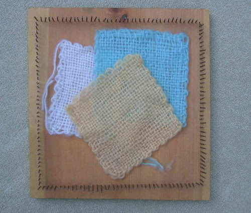 Homemade handloom and woven squares