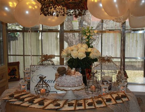 A vintage garden themed party for mom's 75th birthday