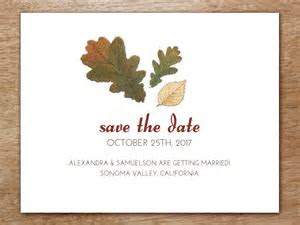 Autumn Leaves Save the Date Printable