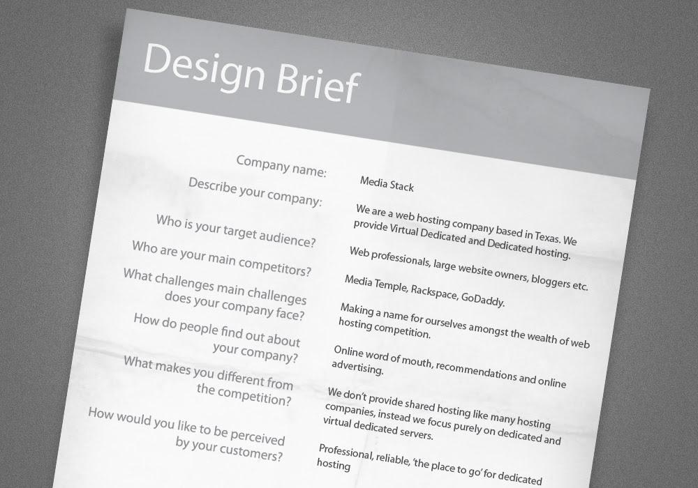 10 Design Brief Format Template Images - Design Brief ...