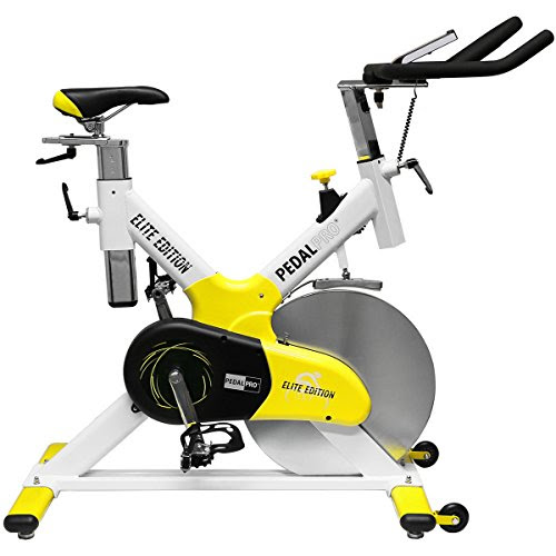 PedalPro Elite Edition Exercise Bike - White/Yellow/Black