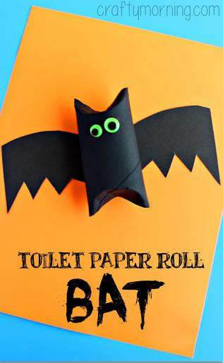 туалетной бумаги ролл-летучей мыши Хэллоуин-крафт-в-детей