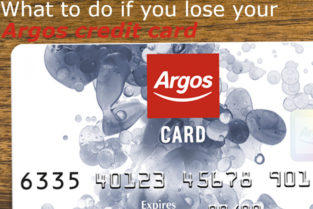 You've lost your Argos card - here's what you need to do