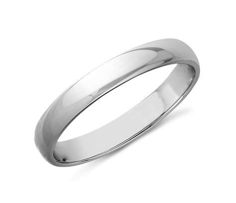 Classic Wedding Ring in 14k White Gold (3mm)   Blue Nile