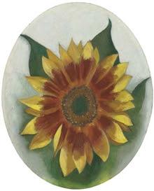 Georgia O'Keeffe - Sunflower, oil on board