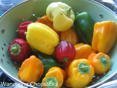 Homegrown Heirloom Bell Peppers
