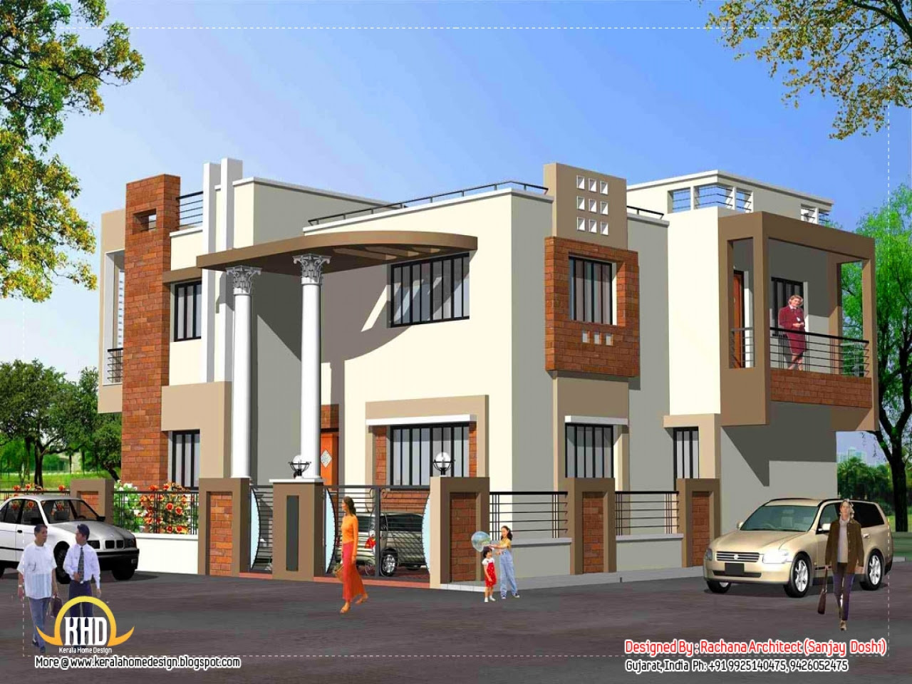 Indian  House  Elevation  Design Beautiful Houses Elevations