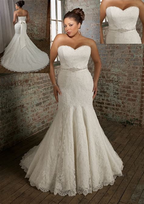 Plus Size Wedding Dresses Mori Lee   Deartha Women's Plus